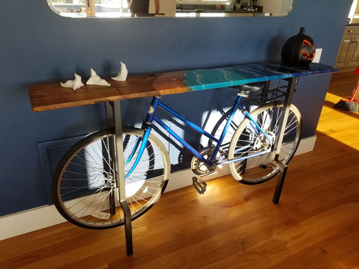 bike accent table