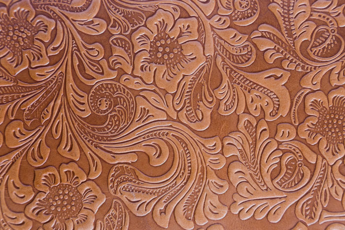 leather floral pattern